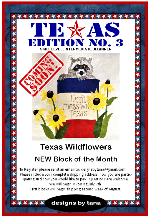1415AKS Texas Edition No. 3 ~ Wildflower Complete Collection of Patterns and Kits