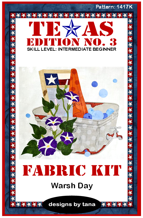 1417K Texas Edition No. 3 ~ Warsh Day Fabric Kit Only