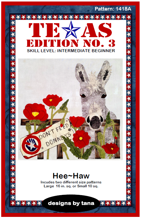 1418A Texas Edition No. 3 ~ Hee Haw Pattern Only