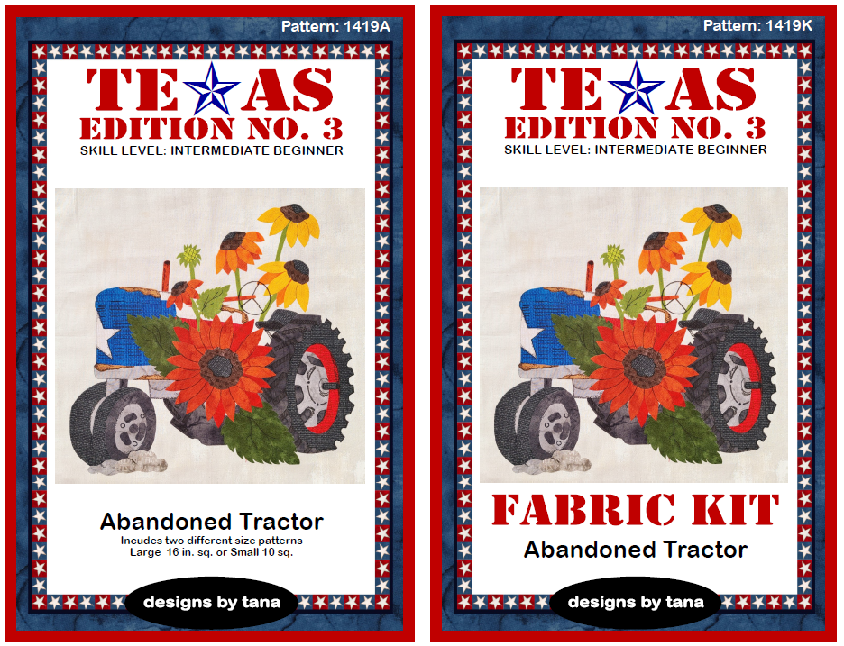 1419AK Texas Edition No. 3 ~ Abandoned Tractor Pattern and Fabric Kit