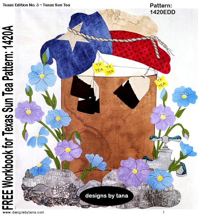 1420EDD FREE Texas Edition No. 3 ~ Texas Sun Tea Scanned images