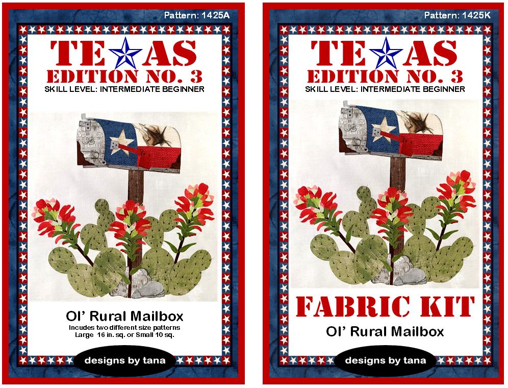 1425AK Texas Edition No. 3 ~ Ol' Rural Mailbox Ranch Pattern and Fabric Kit
