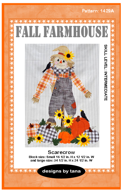 1429A Fall Farmhouse~Scarecrow Pattern Only