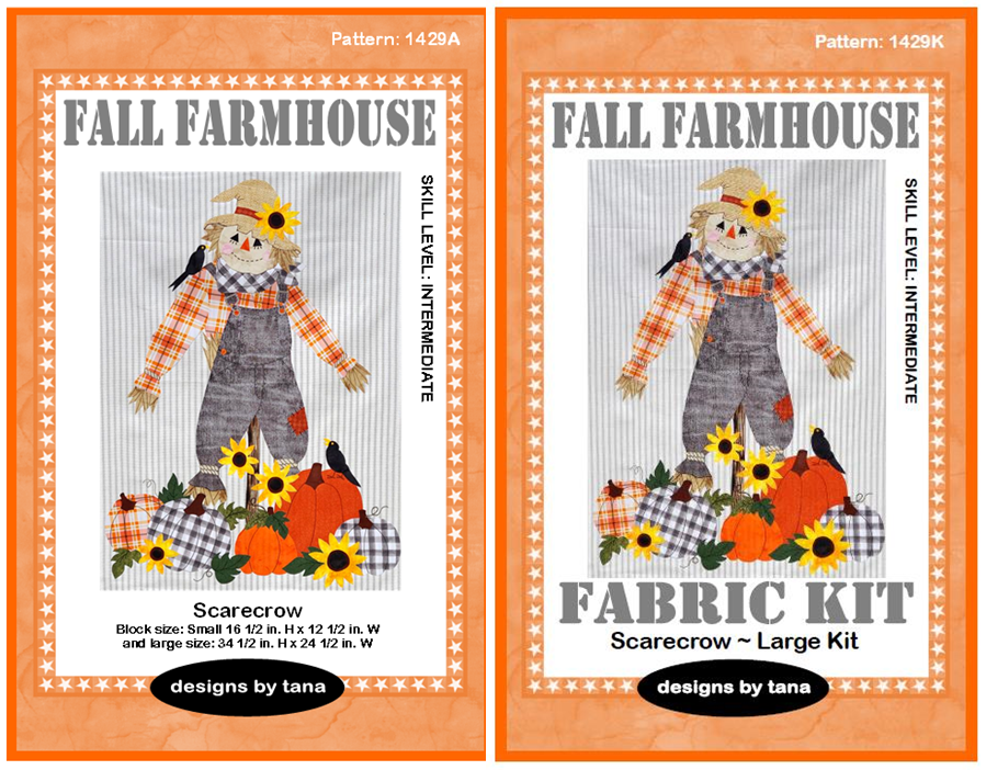 1429K Fall Farmhouse~Scarecrow pattern and fabric kit