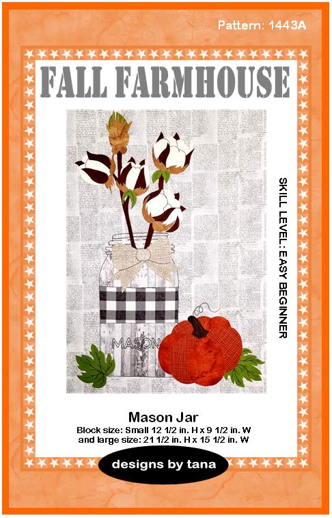 1443A Fall Farmhouse ~ Mason Jar Pattern only