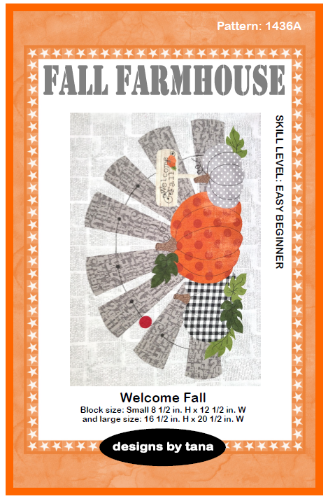 1436A Fall Farmhouse ~ Welcome Fall Pattern only