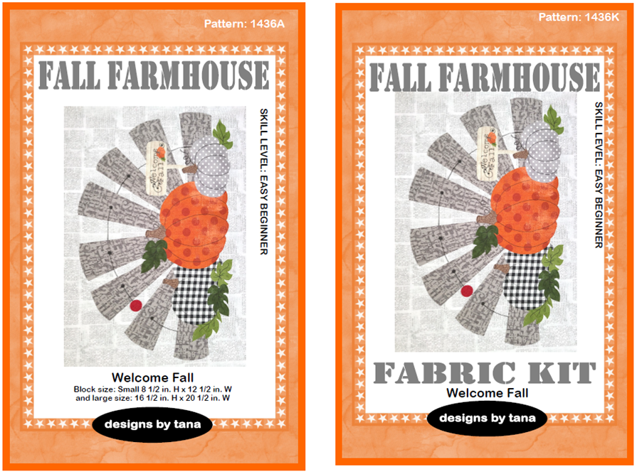1436K Fall Farmhouse ~ Welcome Fall Pattern and Fabric Kit