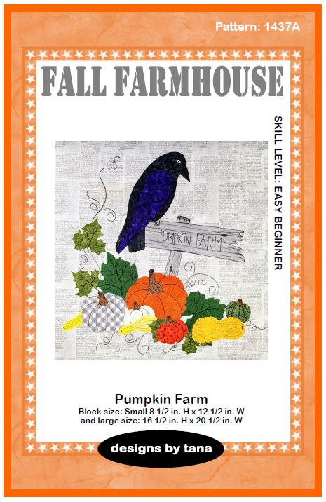 1437A Fall Farmhouse ~ Pumpkin Farm Pattern only