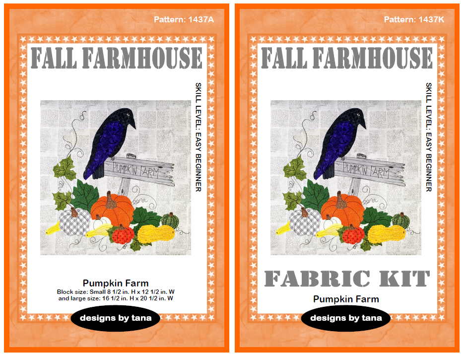 1437AK Fall Farmhouse ~ Pumpkin Patch Pattern and Fabric Kit