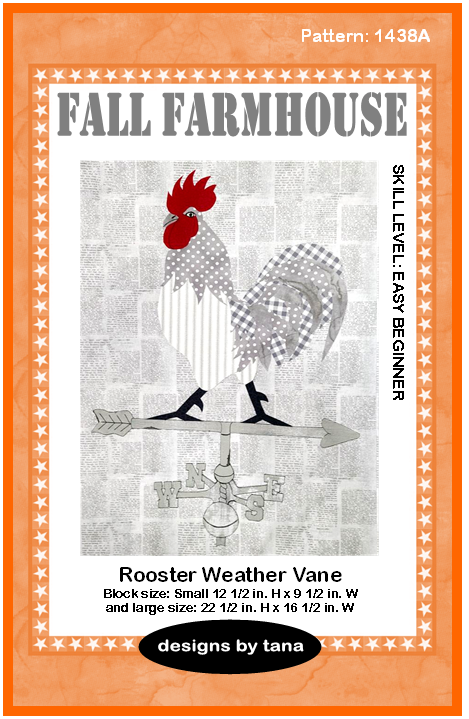 1438A Fall Farmhouse ~ Rooster Weather Vane Pattern only