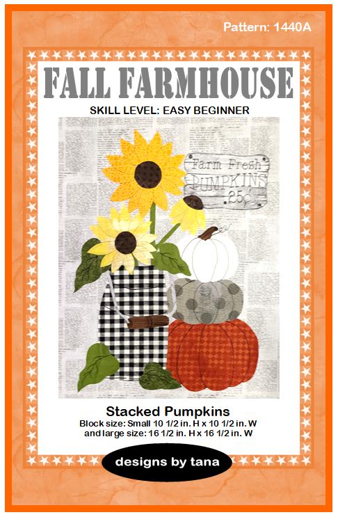 1440A Fall Farmhouse ~ Pumpkin Patch Farm Pattern only