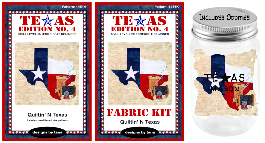 1450AKX Texas Edition No. 4 ~ Quiltin' N Texas Block of the Month