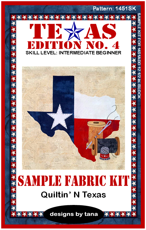 1451SK Texas Edition No. 4 ~ Quiltin' N Texas Sample Fabric Kit