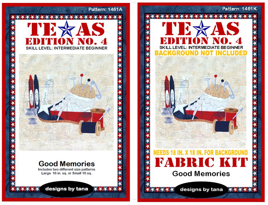 1461AK Texas Edition No. 4 ~ Good Memories pattern and fabric kit