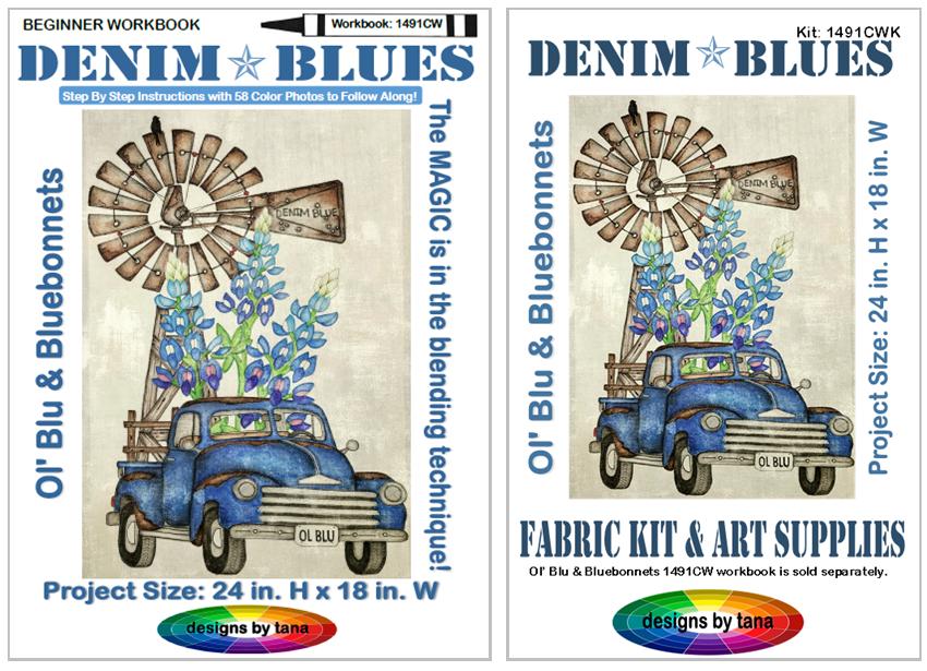 1491CWK Ol' Blu & Bluebonnets Beginner Workbook and Kit