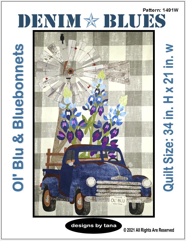 1491W Ol' Blu & Bluebonnets Pattern Only