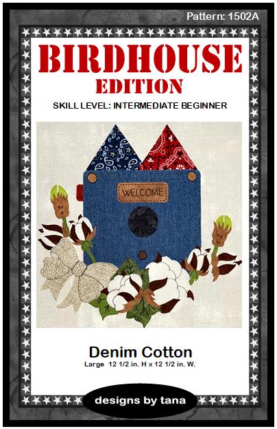 1502A Denim Cotton pattern only