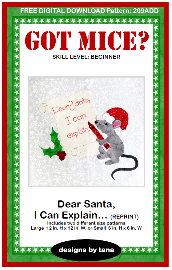 209ADD FREE Got Mice? ~ Dear Santa I Can Explain (reprint)