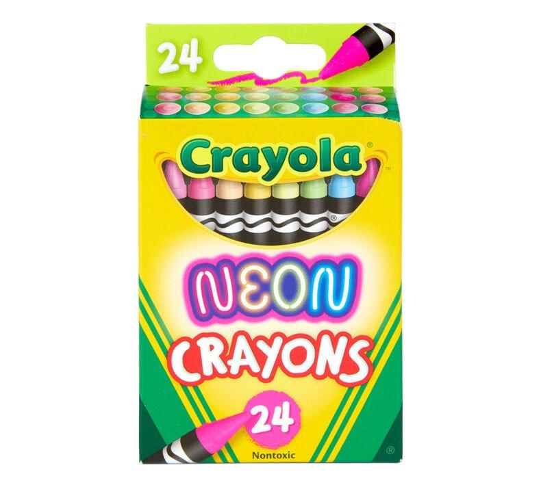 Crayola Neon Crayons 24 ct.