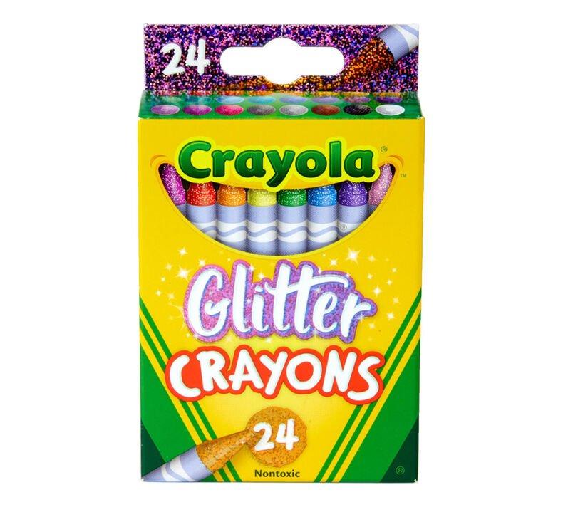 Crayola Glitter Crayons 24 ct.