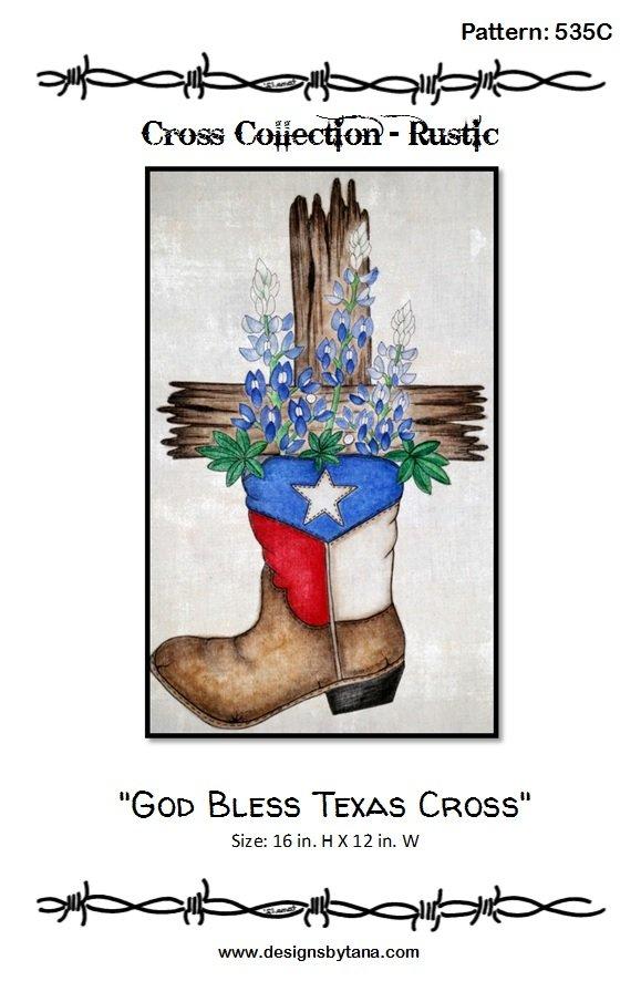 God Bless Texas Cross