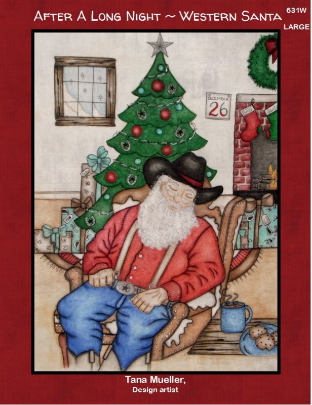 After A Long Night - Western Santa (Large)