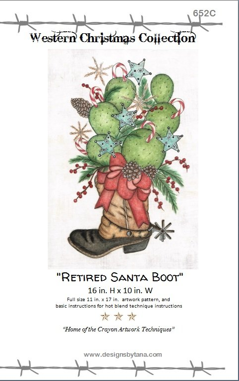 Retired Santa Boot