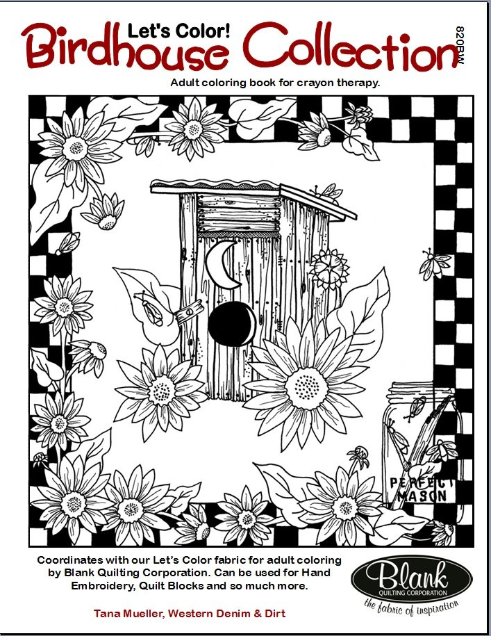 Birdhouse Collection Adult Coloring Book