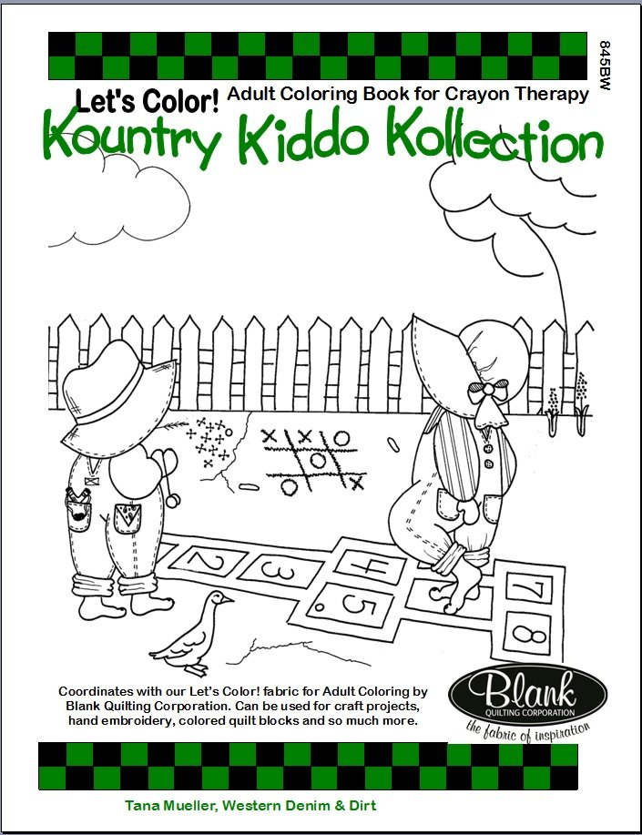 Kountry Kiddos Kollection Adult Coloring Book