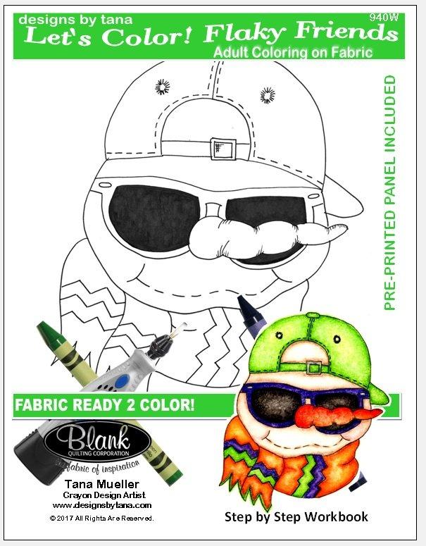 Let's Color! Flaky Friends