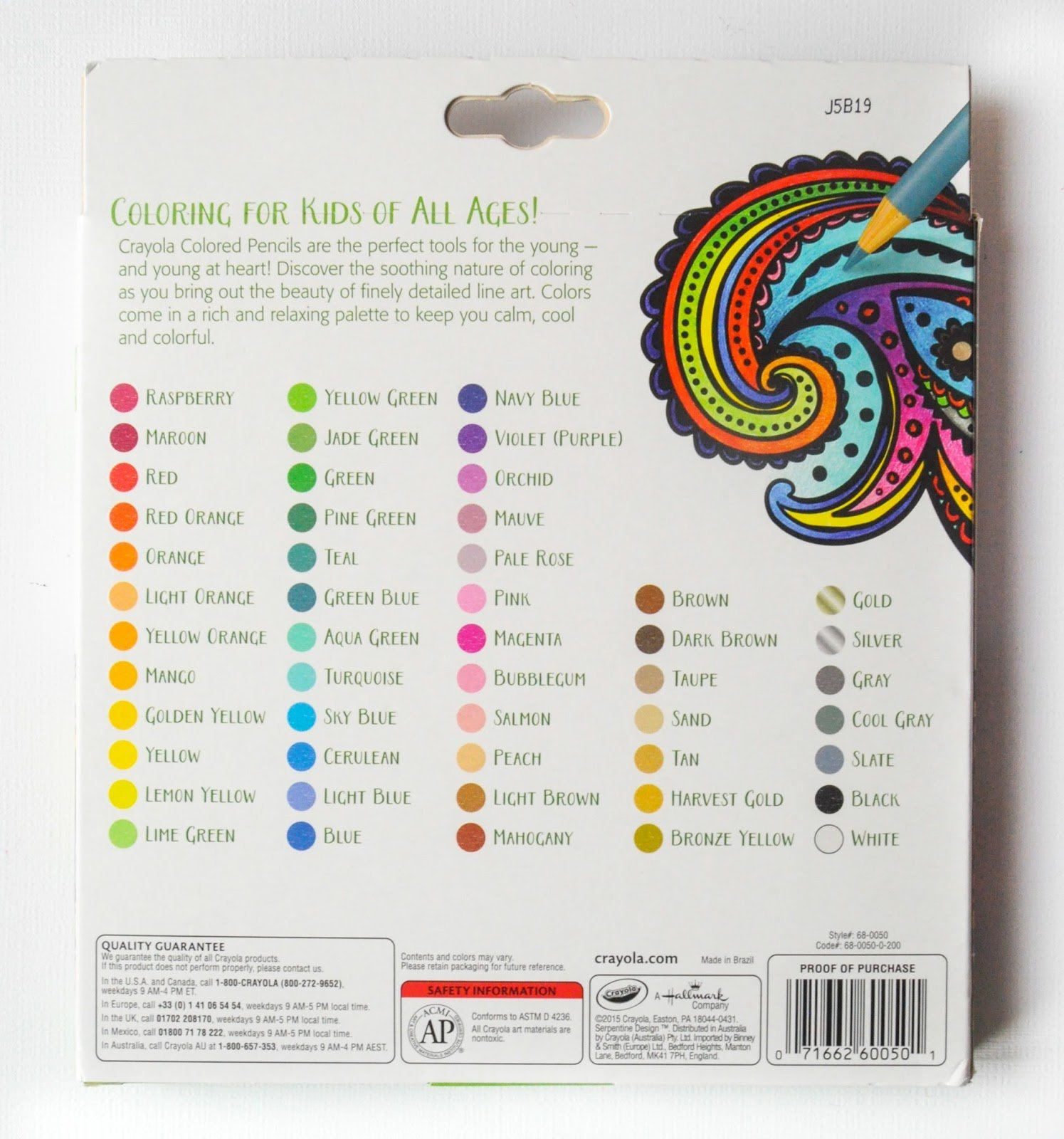 Crayola colored pencils 50 ct rich vibrant colors 071662600501 nvjuhfo Image collections