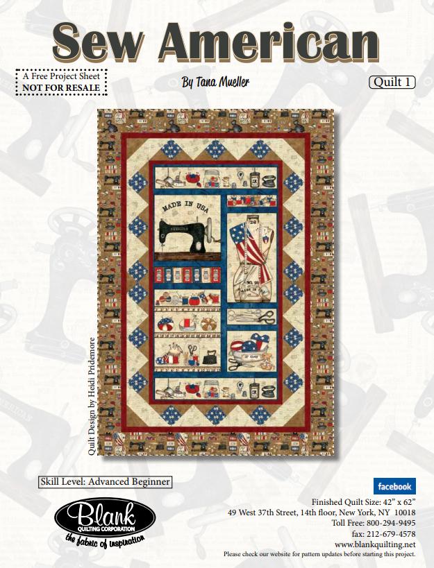 Sew American Quilt 1 fabric kit