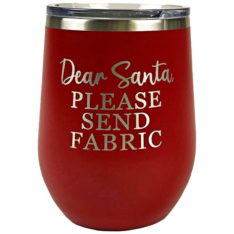 TWB12 DS Red Tumbler Red Dear Santa Fabric