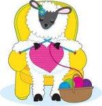 A Sheep Knitting