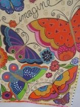 A Danji Painted Butterfly Needlepoint Canvas