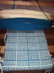 Log Cabin Weaving Sample