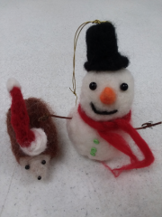 Christmas Felted Ornament