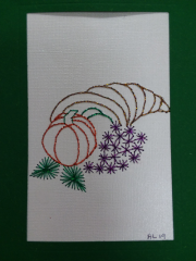 Fall Embroidered Card