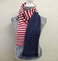 4th of July Knitted Scarf
