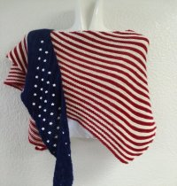 Fourth of July Knitted Shawl