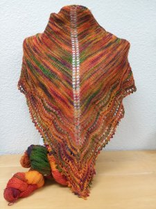 mountain Colors Knitted Shawl