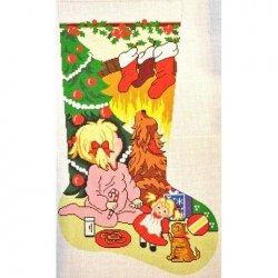 Danji Needlepoint Christmas Stocking