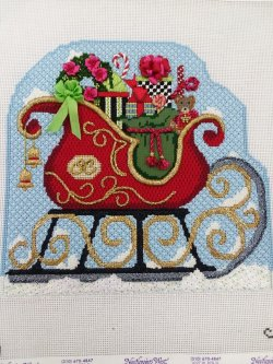 Needlepoint Christmas Sleigh