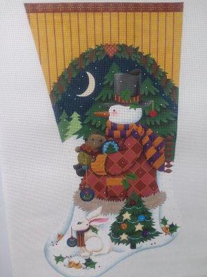 Christmas Stocking With Snow Man