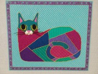 Needlepointed Cat