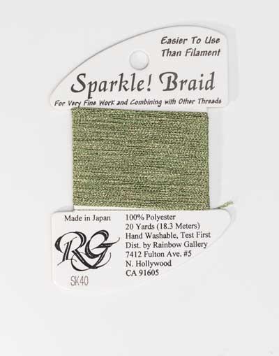 Sparkle Braid SK40 Golden Green