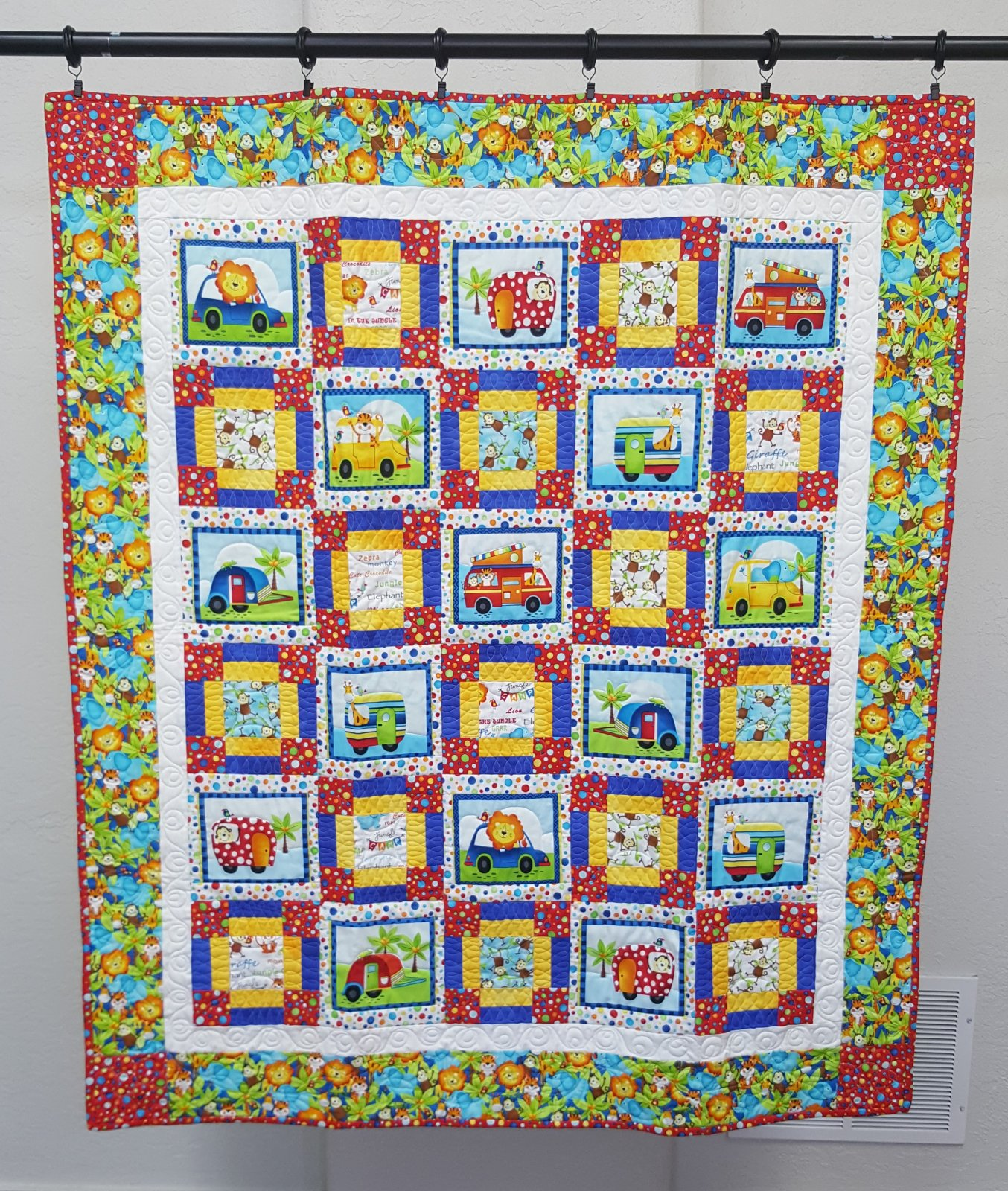Jungle Animal Baby/Toddler Quilt