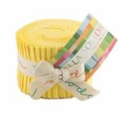Bella Solids Junior Jelly Roll Yellow