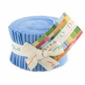 Bella Solids Junior Jelly Roll 30s Blue