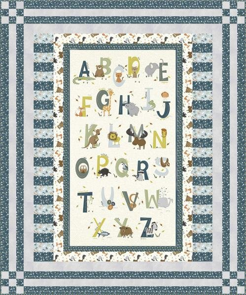 Animal Alphabet Quilt Kit (Blue)